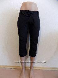Бриджи капри черные коттоновые фирменные ONLY размер 44-46