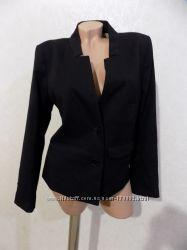 Пиджак черный на пуговицах с карманами фирменный H&M размер 46