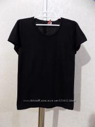 Футболка черная фирменная H&M размер 46-48
