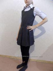 Сарафан школьный серый со змейкой фирменный M&S на 8-9 лет