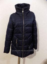 Куртка пуховик зимний темно-синий фирменный Sally Snow размер 48