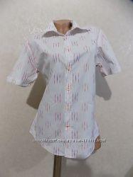 Рубашка блузка на пуговицах белая фирменная MEXX размер 46-48