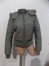 Куртка теплая на спинтепоне с капюшоном фирменная H&M размер 46
