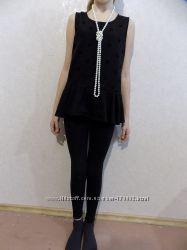 Блуза с баской черная фирменная BlueZoo на 10-12 лет на рост 152-158 см
