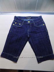 Шорты бриджи джинсовые синие размер 40-42XXS
