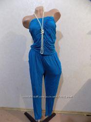 Комбинезон галифе с карманами бирюзовый фирменный Yessica размер 46