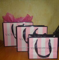 Фирменные подарочные пакеты Victorias secret  Виктория сикрет
