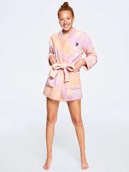 Плюшевый халат Pink от Victorias secret р. ХСС