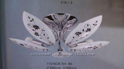 Люстра припотолочная TINKO 11570CR, 5 рожков, розпись