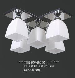 Люстра припотолочная TINKO 11889CRBK5C