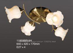 Люстра припотолочная TINKO 11859BR4H, 4 рожка