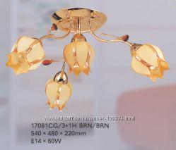 Люстра припотолочная TINKO 17081CG31H BRN, 4 рожка