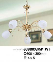 Люстра классическая TINKO 90908CG5P WT, 5 рожков