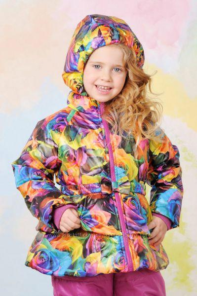 Демисезонные куртки в романтическом стиле девочке 1,5 и 4г. Модный карапуз