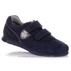 Темно-синие кроссовки из нубука в школу для мальчиков 31-36 р-р 11.2.244