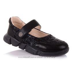 Школьные туфли из замши, нубука и кожи для девочек 26-30 р-р 11.5.97
