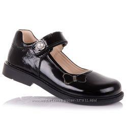 Школьные лаковые туфли с каблуком Томаса для девочек 31-36 р-р 11.5.107