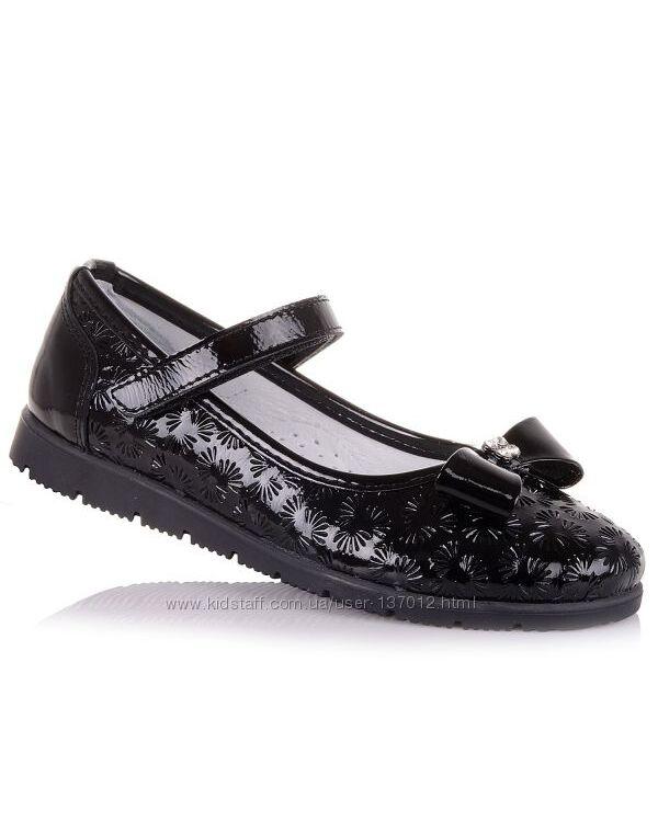 Черные лаковые туфли для школы для девочек 31-36 р-р 16.5.63