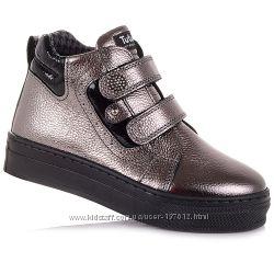 Демисезонные ботинки на липучках для девочек 26-30 р-р 11.3.390
