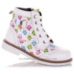 Демисезонные ботинки с оригинальным принтом для девочек 31-36 р-р 11.3.339
