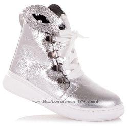 Демисезонные ботинки серебристого цвета для девочек 31-36 р-р 11.3.335