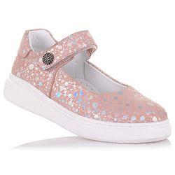 Туфли из нубука, с блестящим принтом для девочек 26-30 р-р 11.5.112