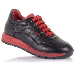 Кожаные кроссовки на шнурках унисекс 31-36 р-р 15.2.96