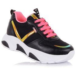 Текстильные кроссовки на шнурках для девочек 26-30 р-р 15.2.99