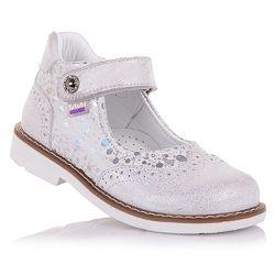 Нарядные ортопедические туфли на липучке для девочек 21-25 р-р 11.5.116
