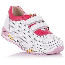 Перфорированные кроссовки на липучках для девочек 26-30 р-р 5.2.42