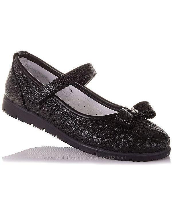 Туфли из натуральной кожи на липучке для девочек 31-36 р-р 16.5.71