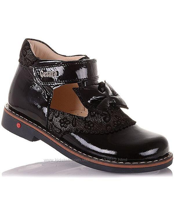 Туфли из лаковой кожи с бантом для девочек 29-34 р-р 14.5.113
