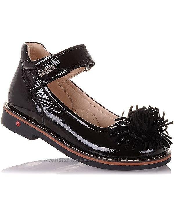 Лаковые туфли с цветком для девочек 29-36 р-р 14.5.112