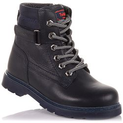 Демисезонные ботинки на шнурках и молнии для мальчиков 26-30 р-р 11.3.463