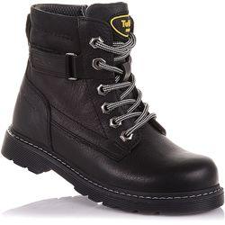 Демисезонные ботинки на шнурках и молнии для мальчиков 26-30 р-р 11.3.461