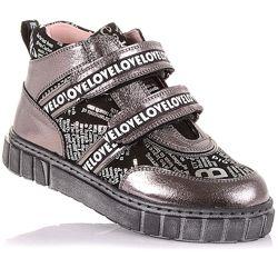Стильные демисезонные ботинки на липучках для девочек 31-36 р-р 12.3.161