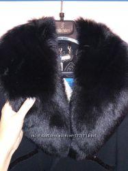 Нарядное зимнее Утепленное пальто с шикарным песцовым воротником