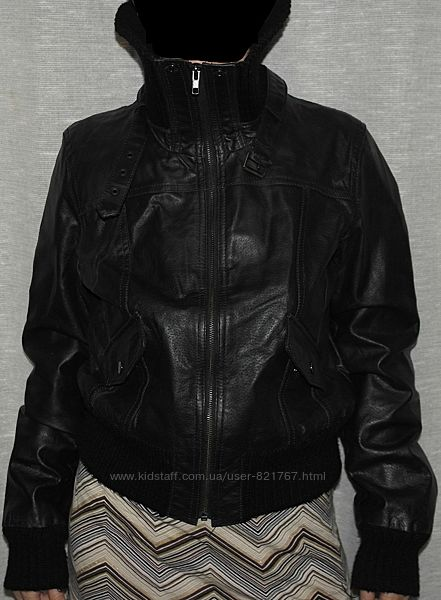 new look курточка натуральная кожа