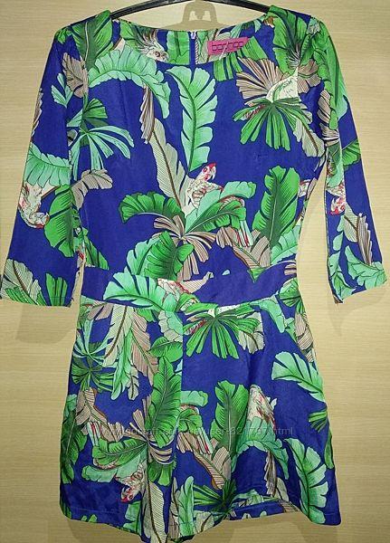 boohoo twenty four seven fashion комбинезон короткий шорты попугаи