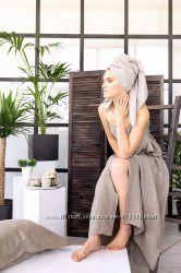 Натуральное льняное банное, пляжное, кухонное полотенце, натурального льна