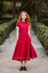 Яркие цветные натуральные платья из 100 льна. ХС-10ХЛ
