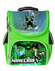 Каркасный рюкзак ортопедический Майнкрафт Minecraft Крипер Стив