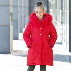 Теплая зимняя куртка для девочки Шарм рр 128-146