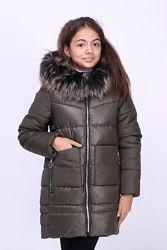 Зимнее пальто детское для девочки Мишель
