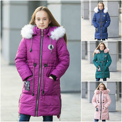 Зимняя куртка , пальто для девочки Оливи