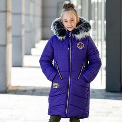 Зимнее пальто куртка для девочки Лика рр 122-146