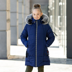 Куртка зимняя для девочки Крисли на рост 110-146
