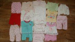 Пакет вещей на девочку 0-3 месяца