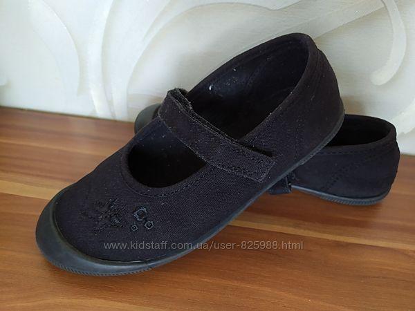 Школьные текстильные туфельки 18см