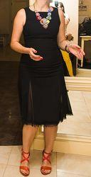 Стильное универсальное платье-футляр А-образного силуэта ZARA размер евро 3